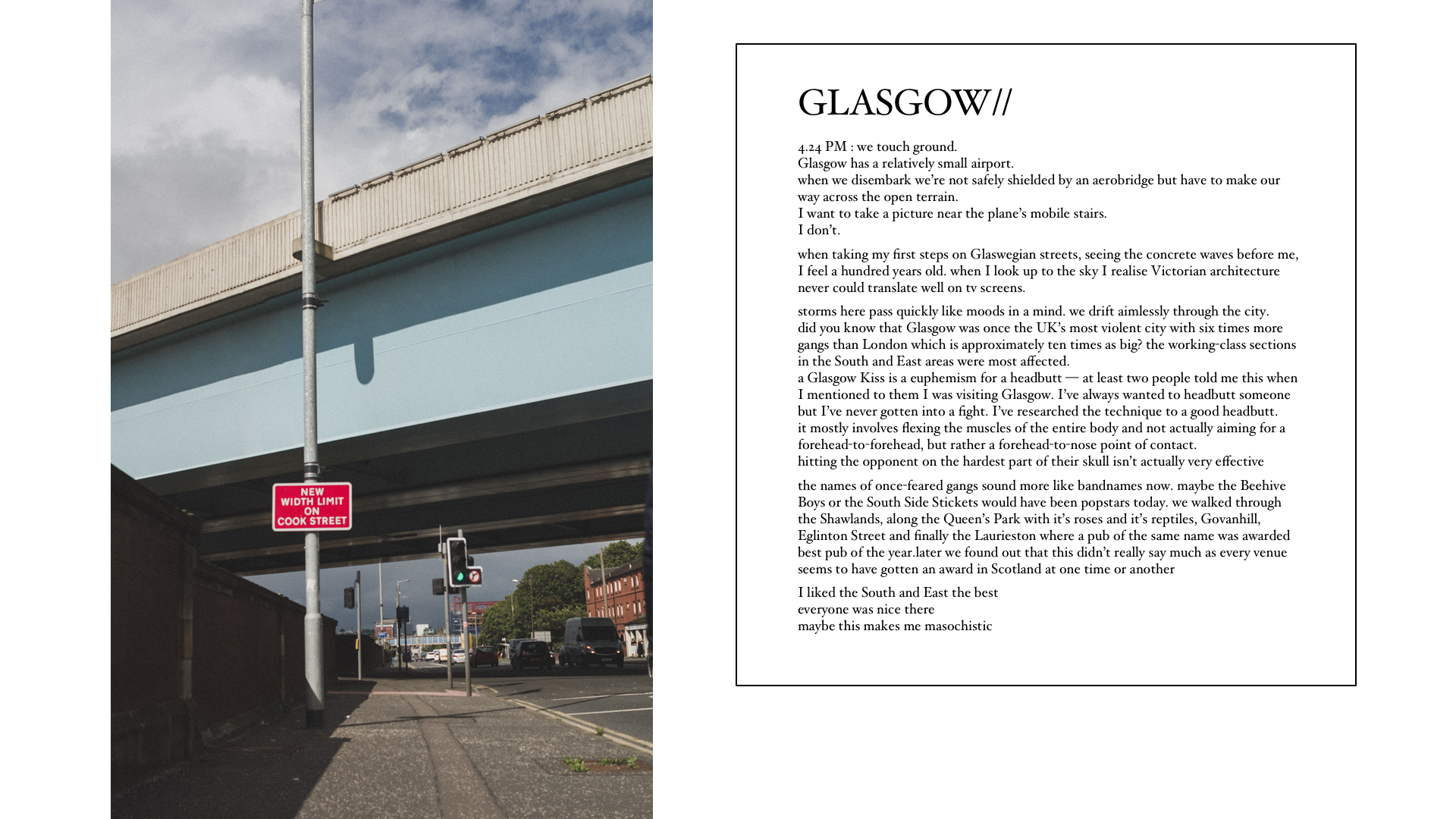 Travelogue Glasgow - Lola Noir